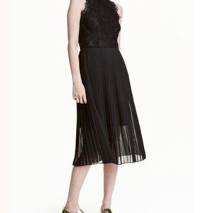 Lace high-neck formal black dress from H&M